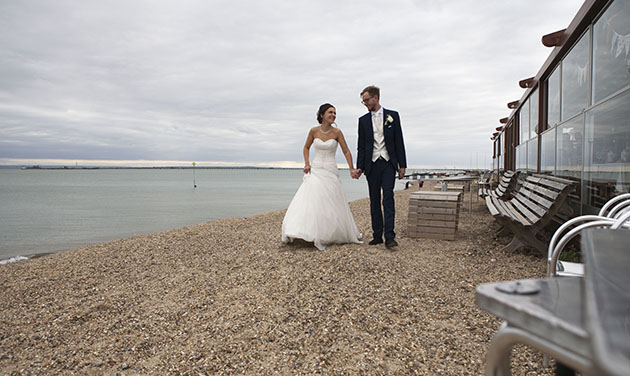 Essex Wedding photography on Southend beach
