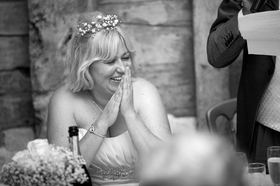 bride listening to fathers speech