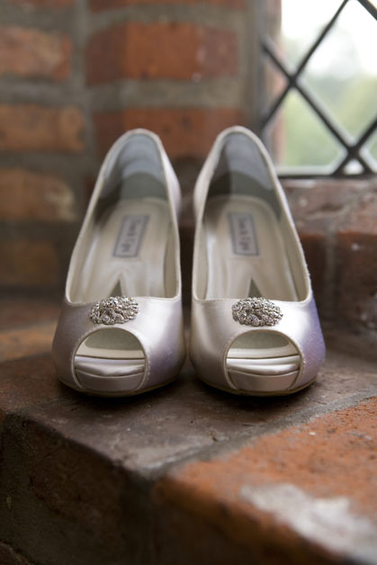 wedding shoes at Leez Priory