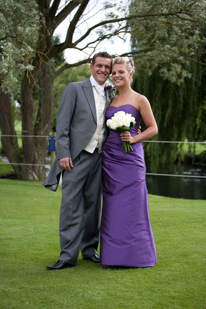 groom and bridesmaid at Three Rivers Essex