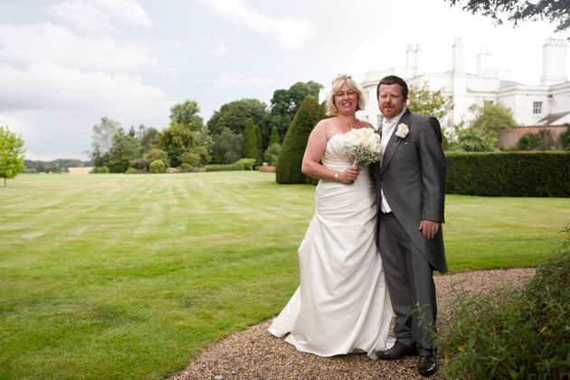 bride and groom grounds blake hall essex