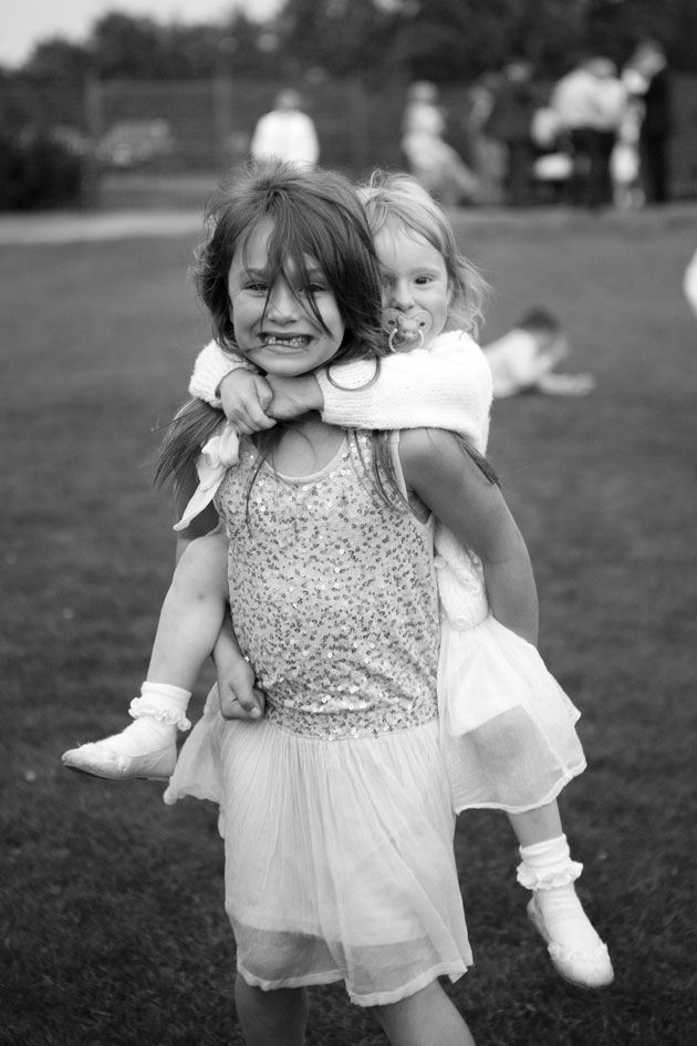 children at crondon park wedding