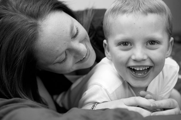 fun mother and son portrait essex
