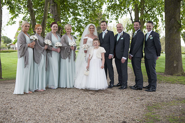 Wedding group bridal party Channels Essex