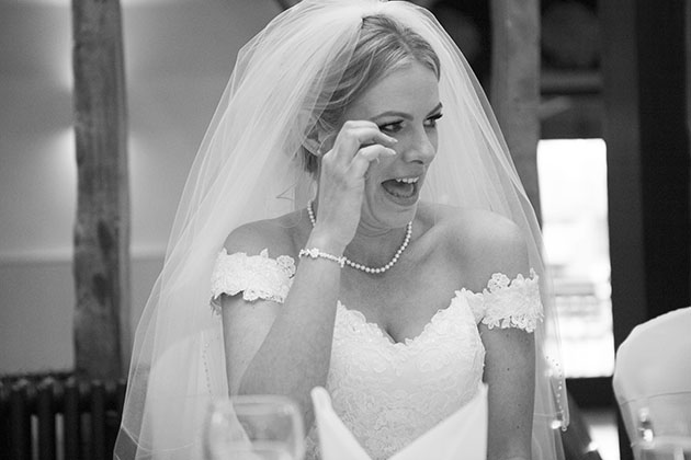 Bride crying Channels Essex