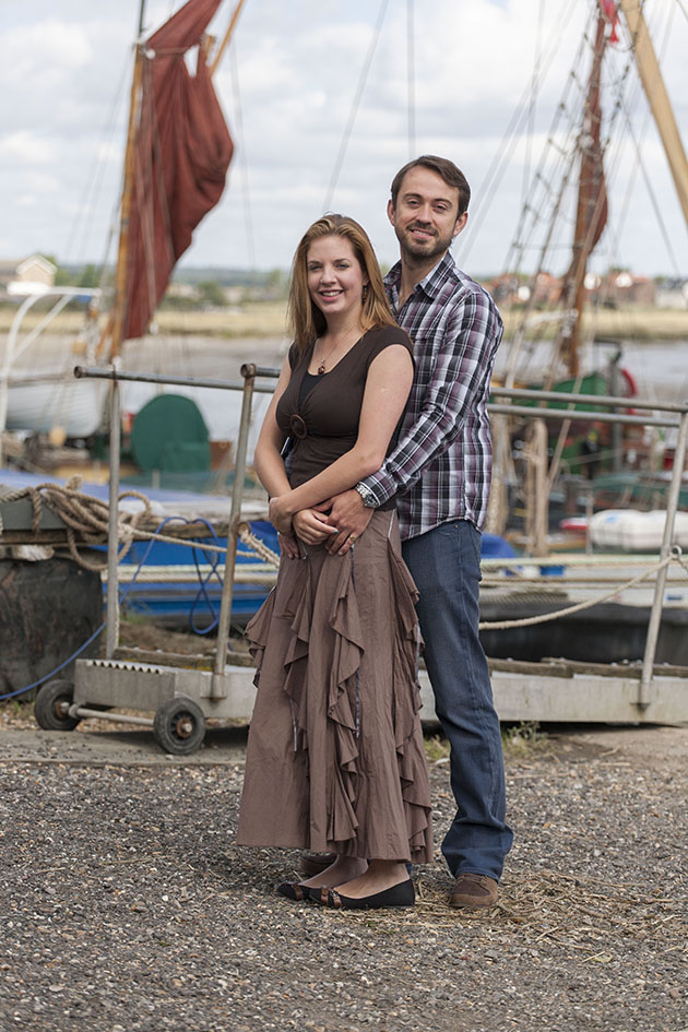 Pre-wed shoot Maldon Essex Blackwater Estuary