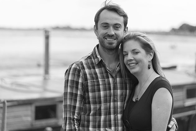 Natural engagement photography black and white