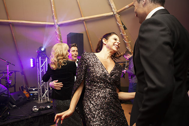 Guests dancing at a party