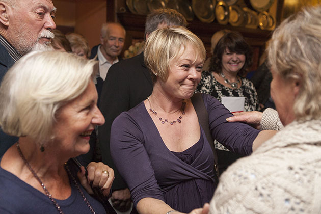 People at a surprise birthday party at The Blue Boar Maldon Essex