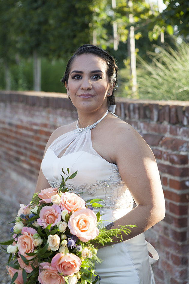 Portrait of the bride at Vaulty Manor