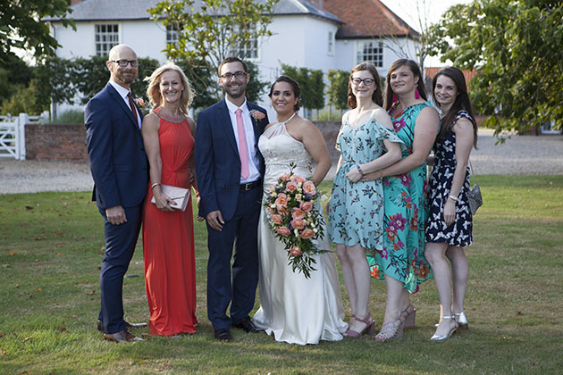 Wedding family group at Vaulty Manor